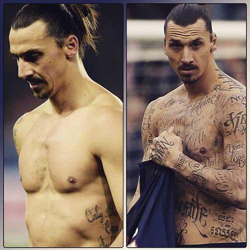 Златан Ибрагимович - История о его татуировках