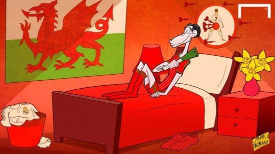 Гарет Бэйл-карикатура от Омара Момани